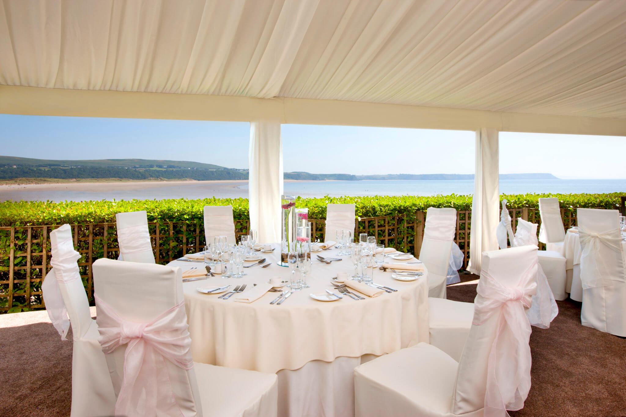 Beach Wedding Venue Gower Sea View Oxwich Bay Hotel